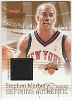 2004-05 Fleer Throwbacks Defining Authentic Jersey Stephon Marbury Relic Knicks