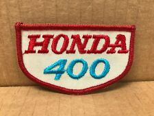 "VINTAGE ORIGINAL 1970'S EMBROIDERED HONDA 400 JACKET PATCH 3.5"" X 2"""