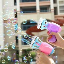 3IN1 Bubble Blowing Blower Fan Machine Kids Soap Water Bubble Summer Outdoor Toy
