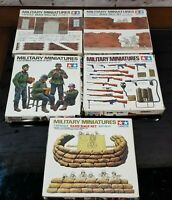 Tamiya Miniatures 1/35, 2 Brick Wall, 1 Sand Bags, 1 US Infantry Weapons & More