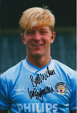 Ian BRIGHTWELL Signed 12x8 Photo AFTAL COA Autograph Man City RARE Authentic