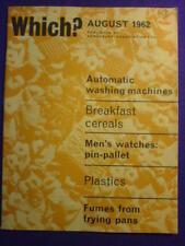WHICH? -  PLASTICS - August 1962