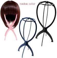 Stable Folding Durable Plastic Wig Hair Hat Cap Holder Stand Display tool TR17