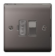 BG Nexus Metal NBN50 - BLACK NICKEL Chrome Switched Fused Spur FCU