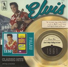 Palau 2012 MNH Elvis Presley Classic Hits 35th Ann Falling in Love 1v S/S Stamps