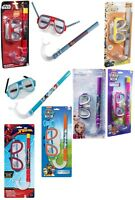 Licensed Kids Snorkel,Mask/Goggles Diving,Swimming Set Various Characters 6+Y