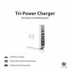 Decibel Tri-Power Charger - Wall - Wireless -Wired