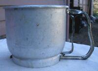 Vintage Foley 5 Cup Sifter aluminum 1950s trigger action kitchen baking flour