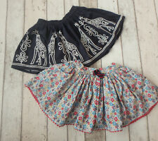 Pretty Ditsy Floral & Giraffe Embroidered Skirts - M&S & Next (12 - 18 months)