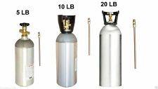 CO2 Cylinder Empty Tank Aluminum with Dip Tube, CGA320 Valve and Carry Handle
