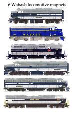 Wabash Locomotives 6 magnet set by Andy Fletcher