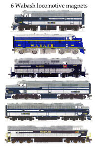 Wabash Locomotives 6 magnet set by Andy Fletcher