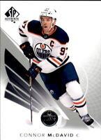 2017-18 SP Authentic Hockey #1 Connor McDavid Edmonton Oilers