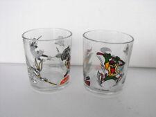 THE Looney Tunes Set of 2 GLASSES TAZ Bugs Sylvester MINT PENOTTI ITALY 2000