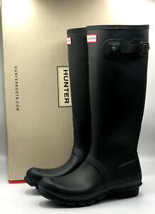 Hunter Original Women's Tall Matte Black Rain Boots - New - Pick Your Size