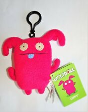 "UGLYDOLL 4"" Pink Plush ""Uppy"" Clip-On Keychain New"