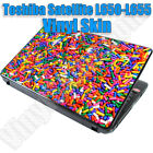 Any 1 Vinyl Decal/Skin for Toshiba Satellite L650-L655 Laptop Lid -Free Shipping