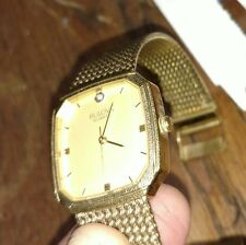 "1980's Bulova Quartz Gold Toned Japan 92A67 Diamond Men's Watch "" 1990 FIRESTONE"