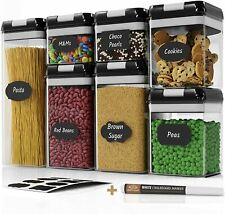 New ListingAirtight Food Storage Container Set - Kitchen & Pantry Organization Containers.