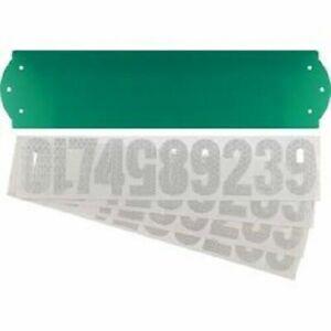 "911 Safety Address Kit 18"" x 4.5""  Green Reflective sign  Hi-visibility   NEW"
