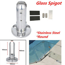 1PC Stainless 10-12mm Round Stair Glass Spigot Pool Fence Balustrade Post Clamp