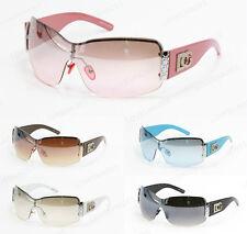Womens Oversized Sunglasses Shield Metal Eyewear Designer Shades Fashion Hot 857