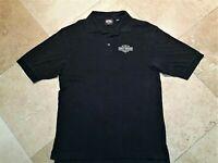 Harley Davidson Orlando FL Short Sleeve Golf Polo Shirt 100% Cotton Black L Men