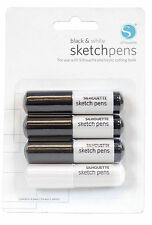 Silhouette BLACK & WHITE SKETCH PENS - Pack of 4 pens
