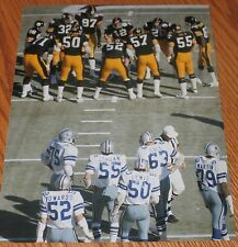 1976 Super Bowl X Pittsburgh Steelers Dallas Cowboys unsigned color 8x10 photo