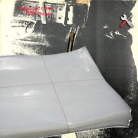 """100 FUNDAS DE PLASTICO GALGA 400 PARA PROTEGER DISCOS DE VINILO LP Y MAXI 12"""""""