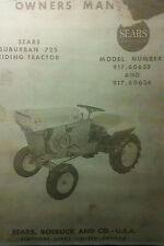 Sears David Bradley 725 Suburban Riding Tractor 91760634 Owner Amp Parts Manual