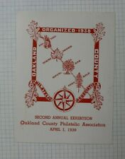 Oakland County Philatelic Expo !939 2nd Annual Expo Souvenir Ad