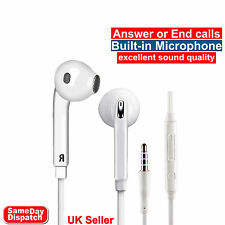Earphone Headphone headset Handsfree For Galaxy S6 S7 S8 Edge Note 4 With Mic UK