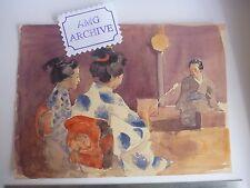 JAPAN Period an original artwork by SLADE ARTIST Harold Duke Collison-Morley gei
