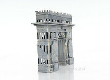 "Arc de Triomphe Still Piggy Bank 3D Architectural Metal Model 7"" Savings Box New"