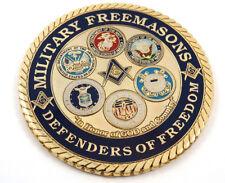 "Military Freemasons Defenders Freedom Mason 3"" auto emblem Metal car decal MAS37"