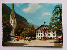 Zillertal Tirol Vintage colour Postcard c1980s Mayrhofen Square +period cars