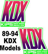 KDX 200 Radiator Shroud Graphics Kdx200 1989-1994 Shroud Decal MX 90 91 92 93