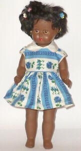 Old Coloured Doll IN Original Box Dolls Poupee Italy? 15in Girl
