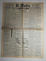 N468 La Une Du Journal Le Matin 12 septembre 1914 la bataille de la Marne