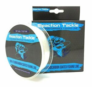Reaction Tackle Fluorocarbon Coated Fishing Line - 350 Yards- High Strength