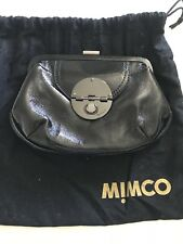 Mimco Hybrid Clutch Black Patent Leather
