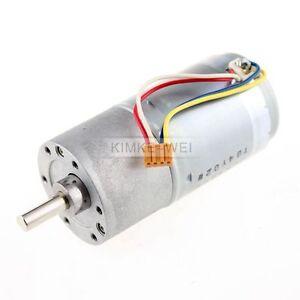 37mm 12V DC 300RPM Replacement Torque Gear Box Motor