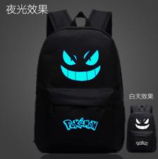 Japan Pokémon Pocket Monster Luminous Zipper Student Schoolbag Travel Backpack
