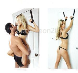 Valentines Toy Bondage Over The Door Entryway Restraints BDSM Hand Cuffs Slave