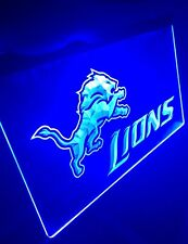 NFL DETROIT LIONS LED Neon Sign for Game Room,Office,Bar,Man Cave, Decor.