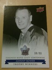 2017-18 UD Toronto Maple Leafs Centennial # 119 Johnny Bower Blue Exclusive /99