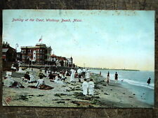 Bathing at the Crest Winthrop Beach Ma 1909