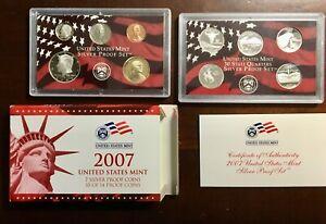 2007 State Quarters Silver Proof Set + Regular Coins
