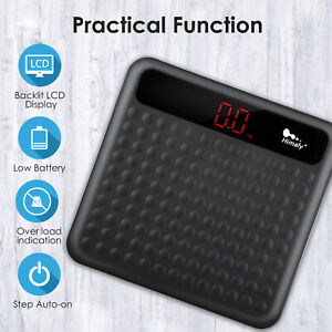 Digital LED Weight Scale Electronic Bathroom Glass Weight Scale 180kg/400lb